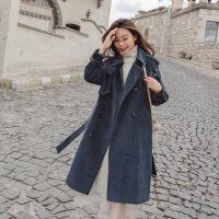 灯芯绒外套女2018新款风衣中长款韩版加厚秋冬季大衣加绒宽松条绒
