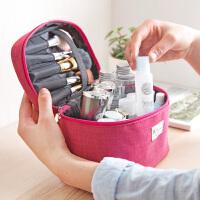 双层大容量化妆包立体化妆品包洗漱包 旅行手提便携化妆品收纳包