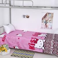 学生宿舍上下铺寝室单人床单四/三件套0.9m1米2床一米二五八床上