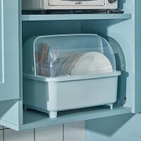 厨房沥水碗柜带盖放碗箱碗碟收纳架家用小型碗筷收纳盒碗盘置物架