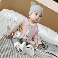 婴儿衣服秋季装新生儿纯棉长袖开衫上衣男女幼儿满月宝宝外套