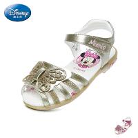 迪士尼Disney童鞋2018新款儿童凉鞋蝴蝶亮彩公主鞋女童时装闪灯凉鞋夏季休闲鞋(5-10岁可选) S73002