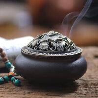 香炉陶瓷仿古小号檀香盘香炉家用茶道室内供佛熏香香薰炉