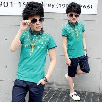新款套装中大童夏季运动韩版两件套儿童短袖潮衣