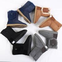 八厂 羊皮毛一体圆头保暖冬季雪地靴 女短靴