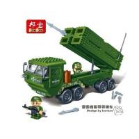 【小颗粒】邦宝国防教育拼插积木益智玩具 爱国者反导导弹车6205