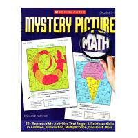 Mystery Picture Math Grades 2-3 神秘画面里的数学 学生加强加法减法乘法技能(附答案)