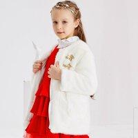 【2件2.5折叠券约:97.2,12日0点】米喜迪mecity童装冬女童欧式贵族双排装饰扣棉服保暖外套
