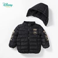 【限时抢:92】迪士尼Disney童装 男童外套冬季新款赛车系列外出夹棉保暖服宝宝带帽可拆卸上衣184S1066