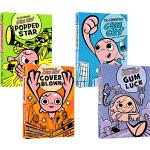 英文原版 The Gumazing Gum Girl 3册 漫画故事小说 青少年英文课外阅读故事书