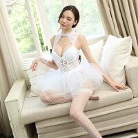 情趣内衣性感透明蕾丝婚纱新娘芭蕾制服激情女仆短裙夫妻套装