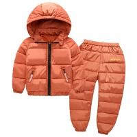 童装儿童羽绒套装中大童轻薄棉衣外套男女童秋冬装两件套