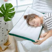 超低矮枕芯平枕头修复颈椎专用全棉助睡眠护颈枕家用 云绒纤维养护枕(一只)