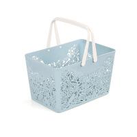 手提洗澡篮子放洗漱用品的浴筐可爱洗浴沐浴蓝浴室收纳框塑料