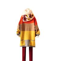 慈颜孕妇装 秋冬装宽条纹厚款宽松慵懒蝙蝠袖毛衣日系女毛衣款LXJ001