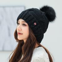 帽子女冬天学生毛线帽女甜美可爱针织帽护耳时尚保暖潮人