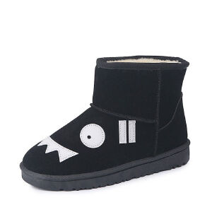 WARORWAR 2019新品YM135-881冬季欧美平底鞋舒适女鞋潮流时尚潮鞋百搭潮牌短靴雪地靴
