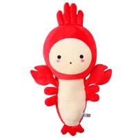 可爱萌龙虾睡觉抱枕公仔创意长条娃娃韩国搞怪毛绒玩具女生日礼物 红色