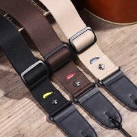 棉质个性民谣电吉他肩带吉他配件琴带 可插拨片式木吉他背带