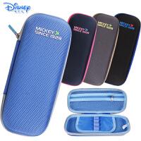 迪士尼米奇儿童小学生铅笔盒大容量双层立体压模笔袋