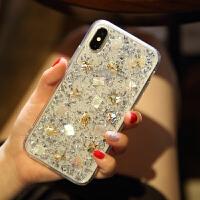 苹果x手机壳硅胶软壳8plus水钻6splus透明外壳8潮牌网红女新款iPhone7plus全包防摔