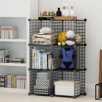 现代书架简易置物架客厅书柜组合储物简约落地收纳架铁艺收纳柜子3ui