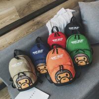 新款可爱学生包幼儿园书包双肩背包卡通猴子儿童包包