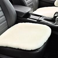 汽车坐垫冬季加绒纯羊毛汽车坐垫冬季短毛绒三件套单片保暖无靠背皮毛一体五座车垫