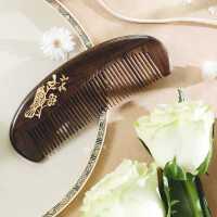 谭木匠礼盒漆艺梳养育 天然木梳子 定制妈妈梳 母亲节礼物