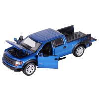 儿童玩具车汽车模型合金开门1:32福特F150皮卡车模合金