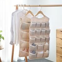 内衣收纳挂袋衣柜收纳悬挂式储物袋布艺多层双面整理袋袜子收纳袋