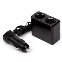 车载点烟器一拖二带双USB手机车用充电器车充多功能汽车插座SN6590