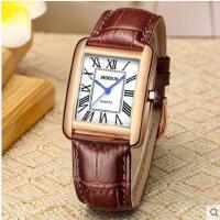 方形超薄手表女皮带石英表女表防水商务休闲手表
