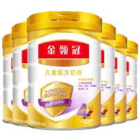 伊利 金领冠儿童配方奶粉 4段 900g 6桶