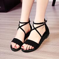 女童凉鞋新款韩版夏季儿童罗马绑带软底鞋中大童平底公主鞋