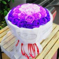 情人节礼物香皂玫瑰花束送女生生日礼物创意结婚礼品定制