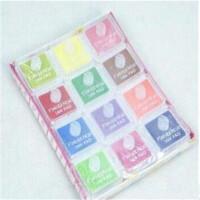12色套装印泥 印章伴侣 彩色可爱儿童手指画印台 三款可选