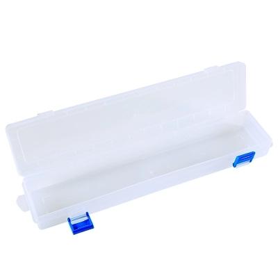 水粉画笔盒透明笔盒油画笔塑料盒长方形铅笔盒美术颜料工具盒