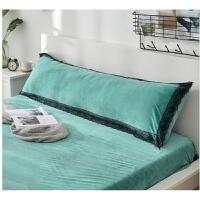 加厚绒法莱绒珊瑚绒双人长枕套1.2m 1.5m 1.8米枕头套
