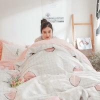 北欧全棉床上四件套纯棉被套1.8m网红床单被子宿舍三件套床笠 1.2m(被套160*210 床单180*230