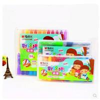 晨光水溶彩绘棒 绘画棒 儿童涂鸦棒 炫彩棒 旋转蜡笔 W8002(12色)W8003(18色)W8004(24色)可选