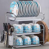 置物架 厨房免打孔小清新欧式置物架用品用具晾洗放沥水碗架碗柜碗碟碗筷盘刀收纳盒餐具架