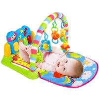 0-1岁婴儿健身架脚踏钢琴新生儿音乐游戏毯宝宝玩具3-6-12个月