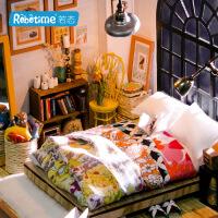 若态diy小屋 3d立体拼图拼板 创意纯手工拼装模型爱丽丝甜梦卧室