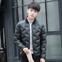冬季青少年羽绒服男短款轻薄12-15岁男孩13中大童14初中学生外套