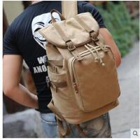 男士背包双肩包电脑包休闲旅行包书包男包日韩版大容量帆布