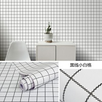墙纸自粘简约ins格子墙贴卧室寝室宿舍壁纸家具翻新防水贴纸