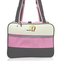 519多功能妈咪包多功能大容量时尚手提斜跨包待产包妈咪袋 粉色