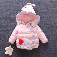 儿童装棉衣外套秋冬新款女童加厚0一1-2-3周岁女宝宝洋气衣服 80cm(80cm(建议身高70-78cm 4-