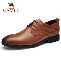 【下单立减120元】camel骆驼男鞋 秋季新款男士正装皮鞋牛皮轻便系带办公鞋真皮皮鞋